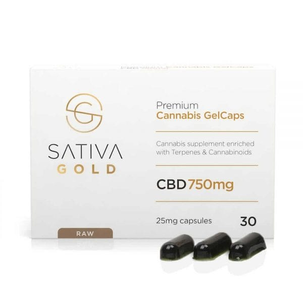 Sativa-Gold-CBD-Oil-GelCaps-Raw-30x25mg-750mg