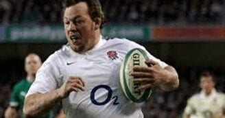 steve thompson during rugby match